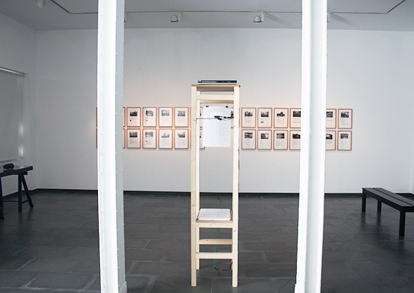 Las Blasfemias (The Blasphemies). Installation view