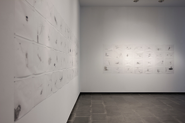 David Escalona.Vendados Series. Installation view