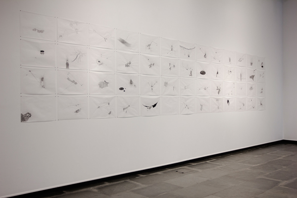 David Escalona. Vendados Seires. Installation view